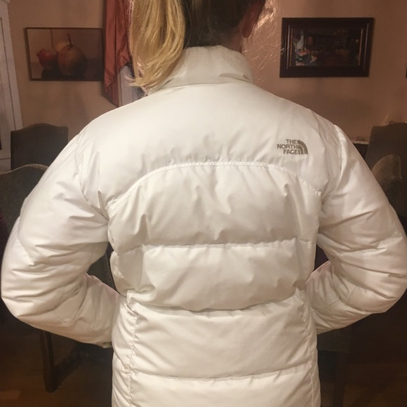 21553f99b Girl's large north face white winter coat